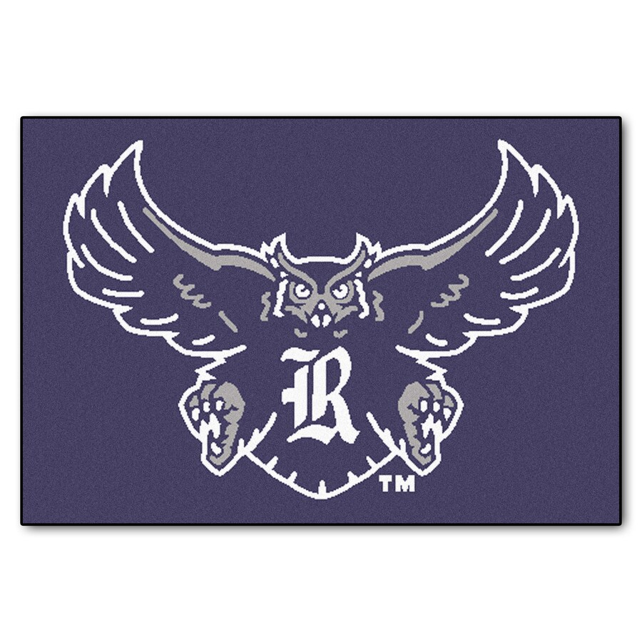 FANMATS Rice University Rectangular Indoor Machine-Made Sports Throw Rug (Common: 1-1/2 x 2-1/2; Actual: 1.583-ft W x 2.5-ft L x dia)