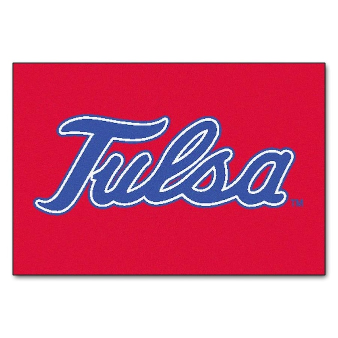 Fanmats Tulsa Golden Hurricane University Of Tulsa 1 1 2 X 2 1 2 Multicolor Indoor Solid Sports Throw Rug In The Rugs Department At Lowes Com