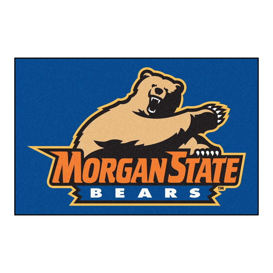 FANMATS Morgan State University Rectangular Indoor Machine-Made Sports Throw Rug (Common: 1-1/2 x 2-1/2; Actual: 1.583-ft W x 2.5-ft L x dia)