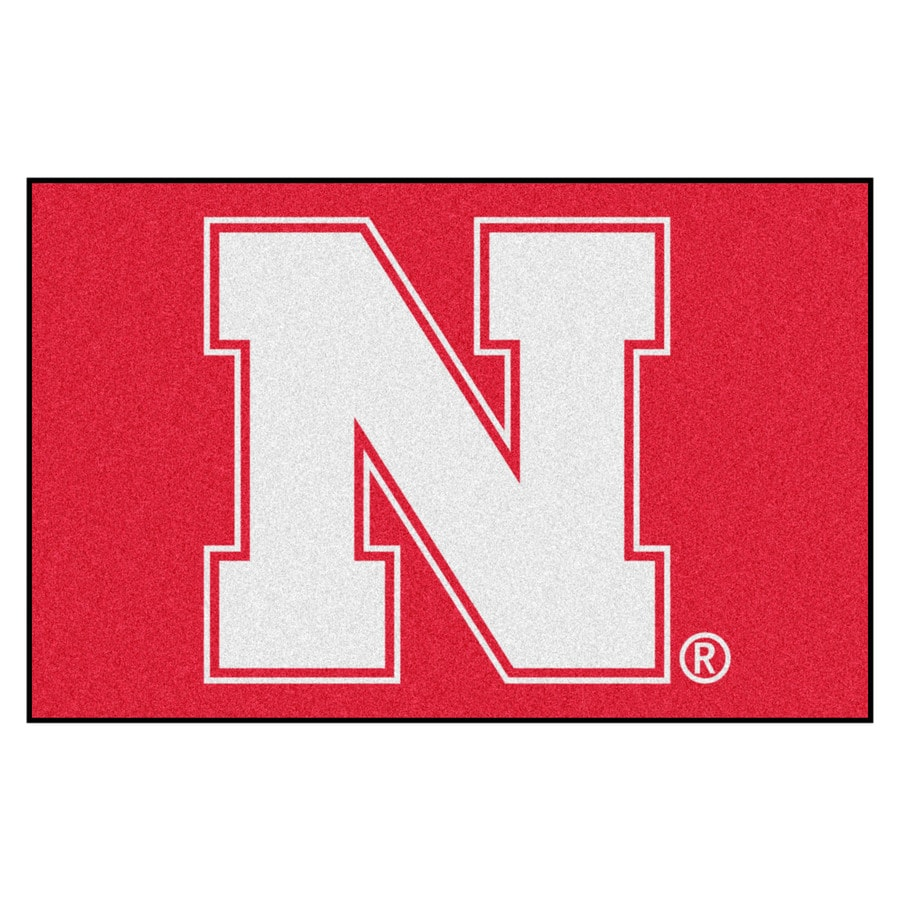 FANMATS University Of Nebraska Multicolor Rectangular Indoor Machine-Made Sports Throw Rug (Common: 1-1/2 x 2-1/2; Actual: 19-in W x 30-in L x 0-ft Dia)