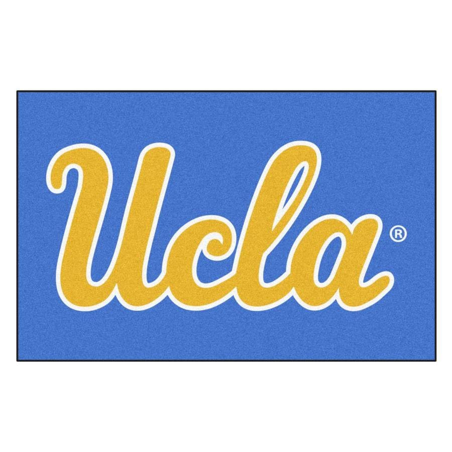 FANMATS University Of California- Los Angeles Multicolor Rectangular Indoor Machine-Made Sports Throw Rug (Common: 1-1/2 x 2-1/2; Actual: 19-in W x 30-in L x 0-ft Dia)