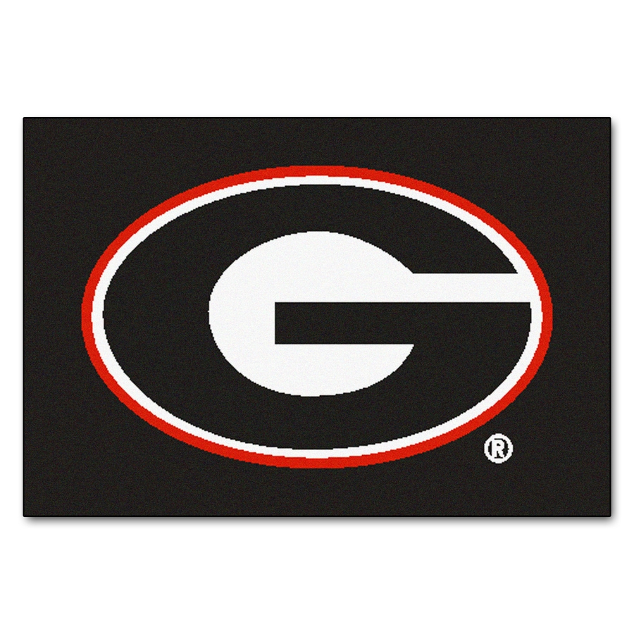 FANMATS University Of Georgia Multicolor Rectangular Indoor Machine-Made Sports Throw Rug (Common: 1-1/2 x 2-1/2; Actual: 19-ft W x 30-ft L)
