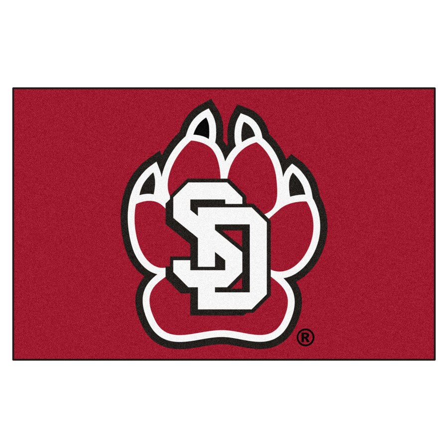 FANMATS University Of South Dakota Multicolor Rectangular Indoor Machine-Made Sports Throw Rug (Common: 1-1/2 x 2-1/2; Actual: 19-ft W x 30-ft L)