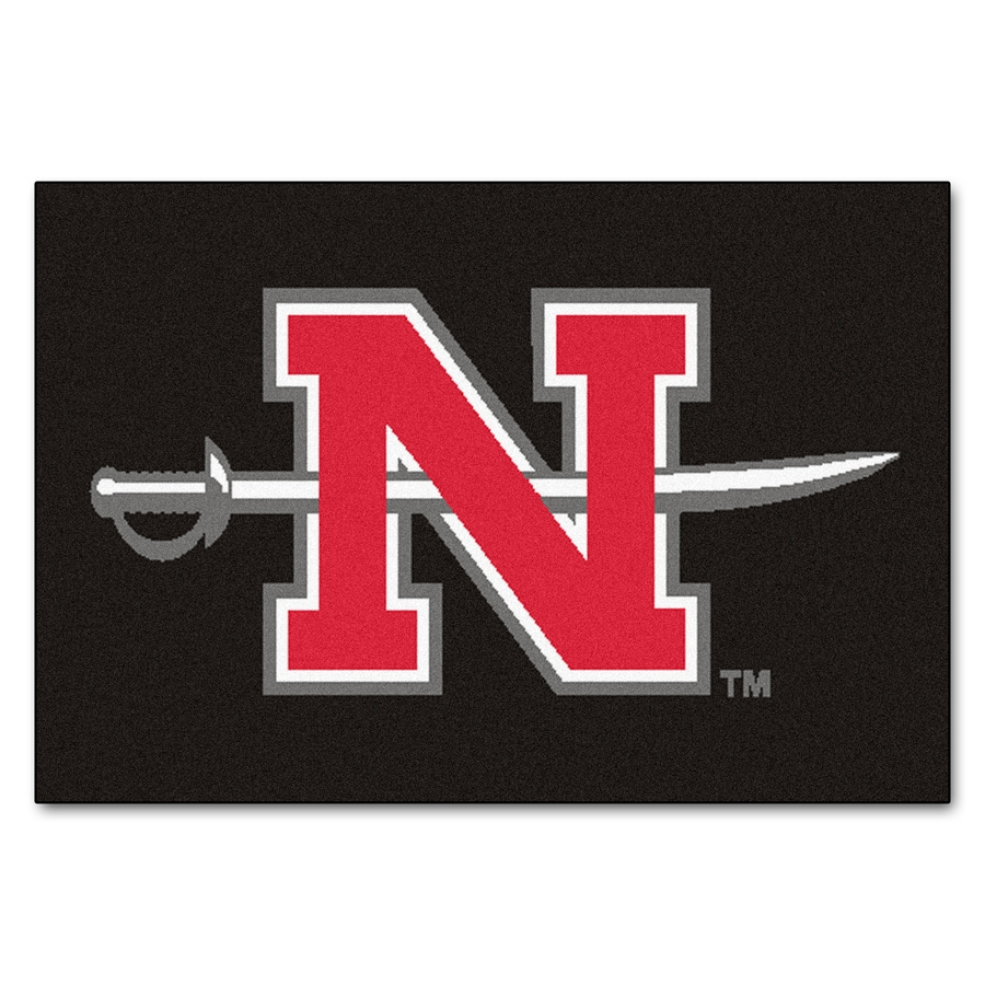 FANMATS Nicholls State University Rectangular Indoor Machine-Made Sports Throw Rug (Common: 1-1/2 x 2-1/2; Actual: 1.583-ft W x 2.5-ft L x dia)