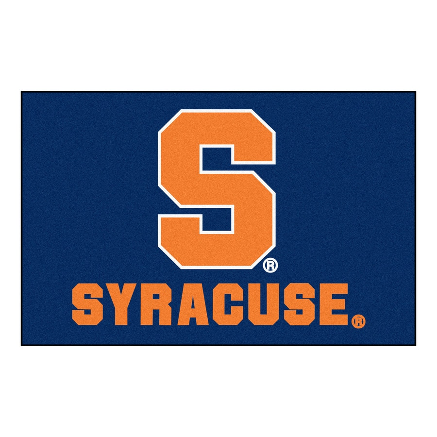 FANMATS Syracuse University Rectangular Indoor Machine-Made Sports Throw Rug (Common: 1-1/2 x 2-1/2; Actual: 1.583-ft W x 2.5-ft L x dia)