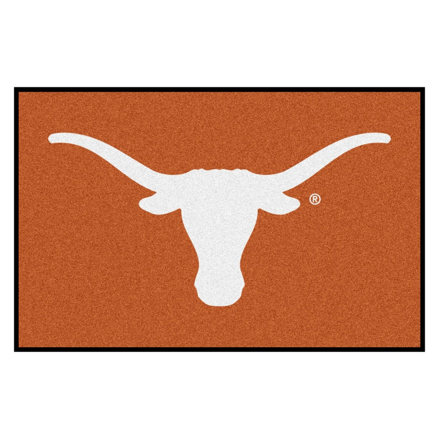 FANMATS University Of Texas Multicolor Rectangular Indoor Machine-Made Sports Throw Rug (Common: 1-1/2 x 2-1/2; Actual: 19-ft W x 30-ft L)