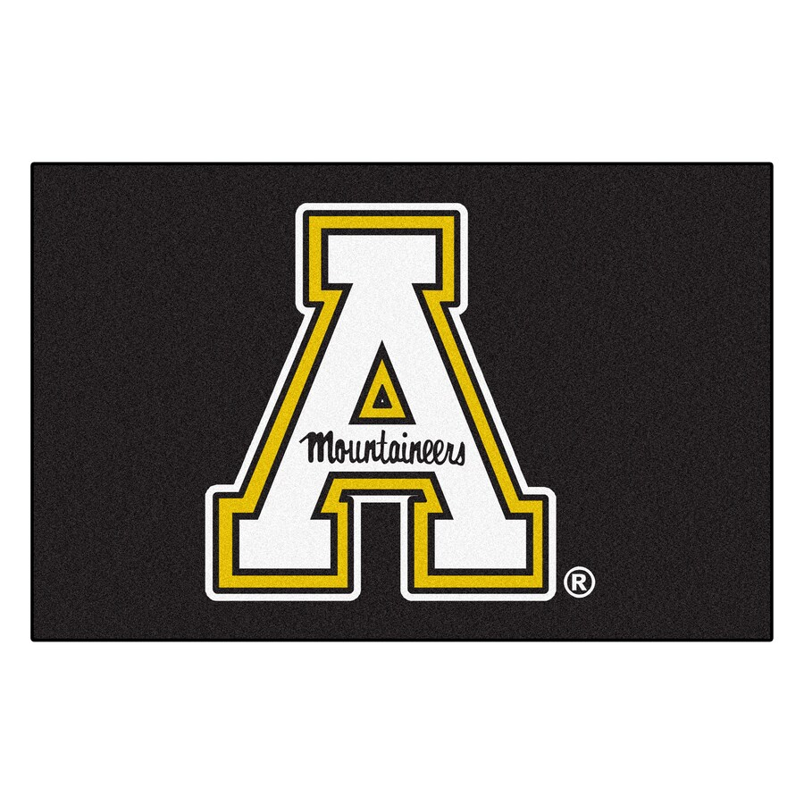 FANMATS Appalachian State Rectangular Indoor Machine-Made Sports Throw Rug (Common: 1-1/2 x 2-1/2; Actual: 1.583-ft W x 2.5-ft L x dia)