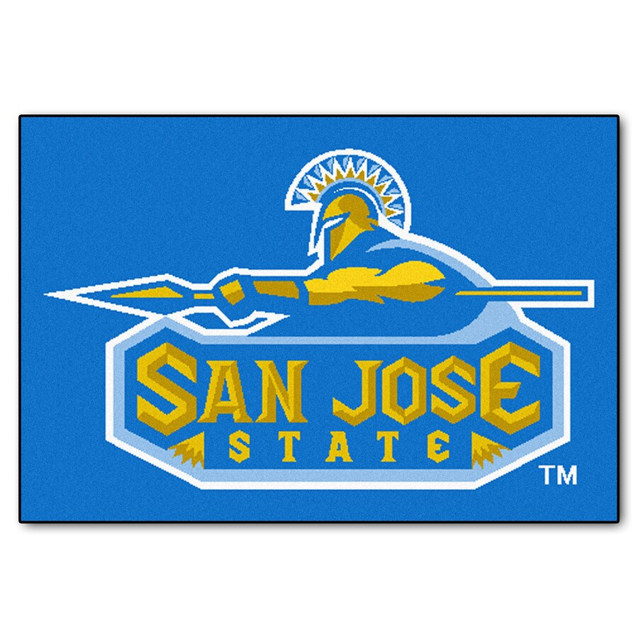 FANMATS San Jose State University Multicolor Rectangular Indoor Machine-Made Sports Throw Rug (Common: 1-1/2 x 2-1/2; Actual: 19-ft W x 30-ft L)