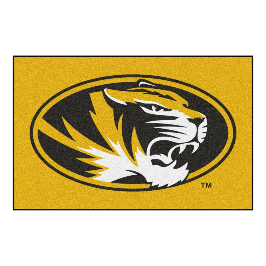 FANMATS University of Missouri Rectangular Indoor Machine-Made Sports Throw Rug (Common: 1-1/2 x 2-1/2; Actual: 1.583-ft W x 2.5-ft L x dia)