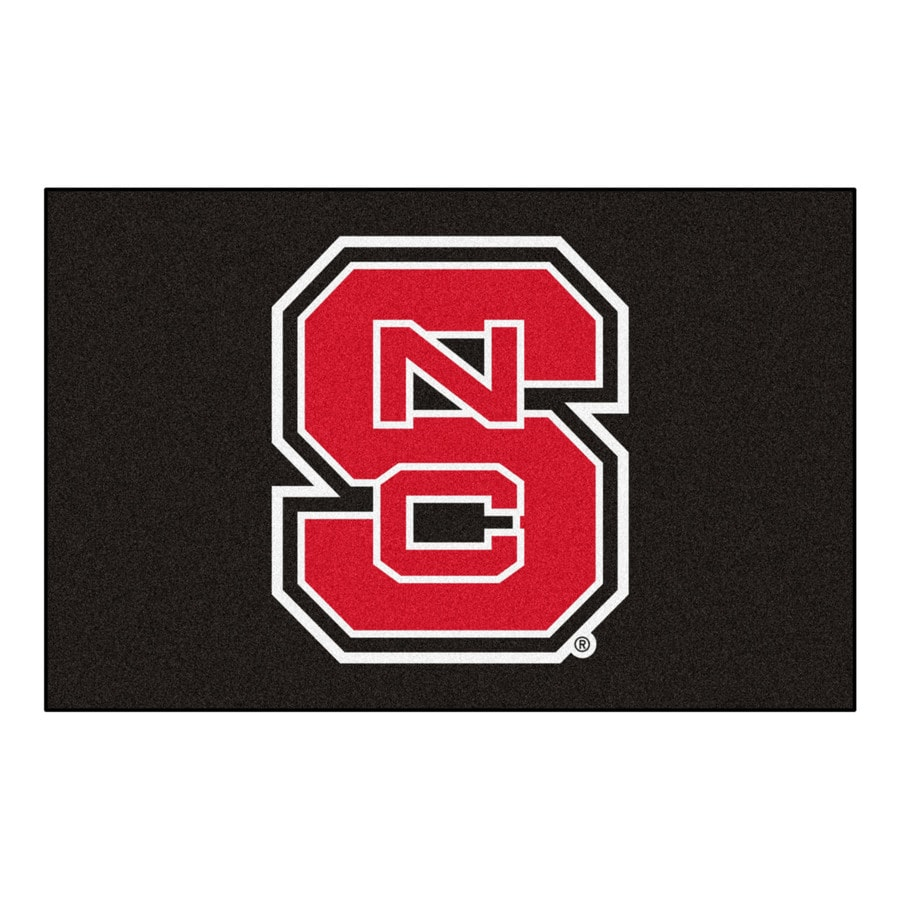 FANMATS North Carolina State University Multicolor Rectangular Indoor Machine-Made Sports Throw Rug (Common: 1-1/2 x 2-1/2; Actual: 19-in W x 30-in L x 0-ft Dia)