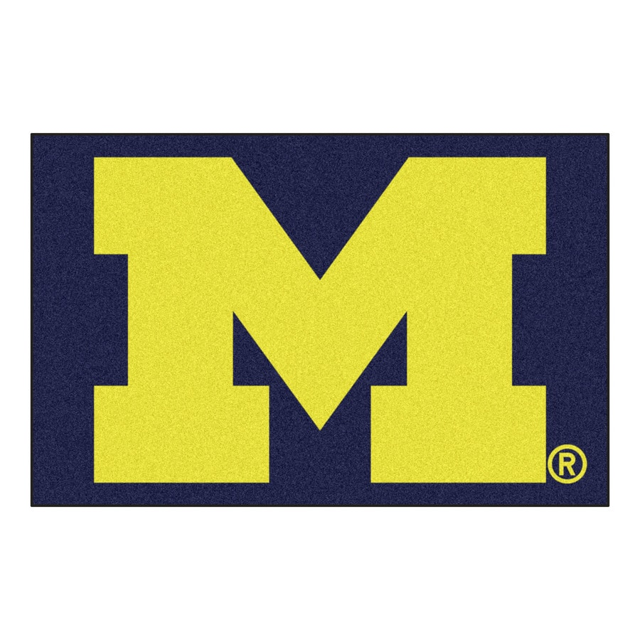 FANMATS University Of Michigan Multicolor Rectangular Indoor Machine-Made Sports Throw Rug (Common: 1-1/2 x 2-1/2; Actual: 19-ft W x 30-ft L)