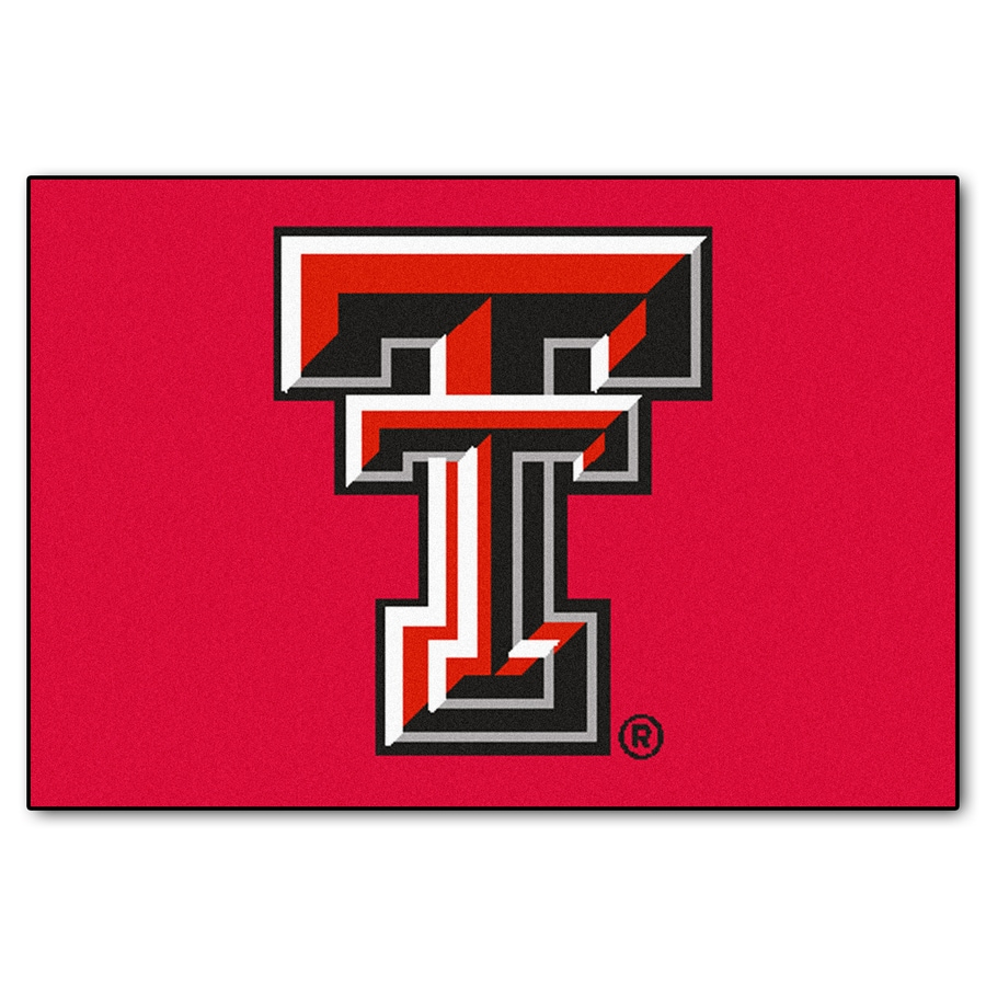 FANMATS Texas Tech University Multicolor Rectangular Indoor Machine-Made Sports Throw Rug (Common: 1-1/2 x 2-1/2; Actual: 19-in W x 30-in L x 0-ft Dia)