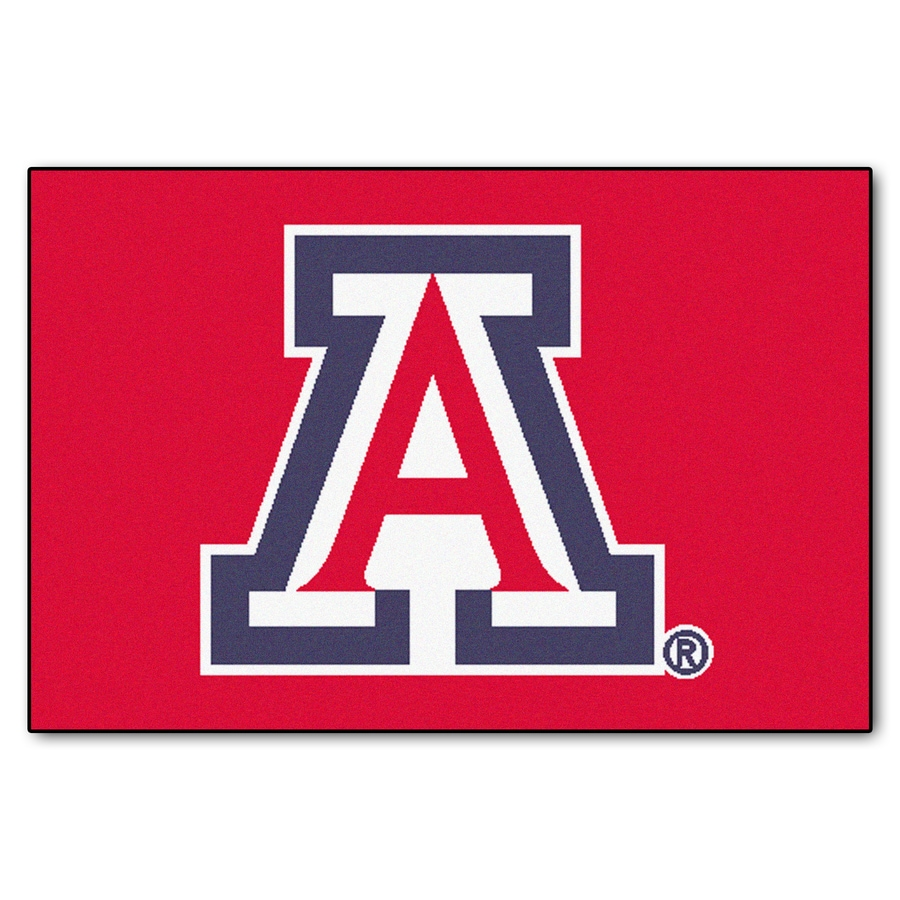 FANMATS University Of Arizona Multicolor Rectangular Indoor Machine-Made Sports Throw Rug (Common: 1-1/2 x 2-1/2; Actual: 19-ft W x 30-ft L)