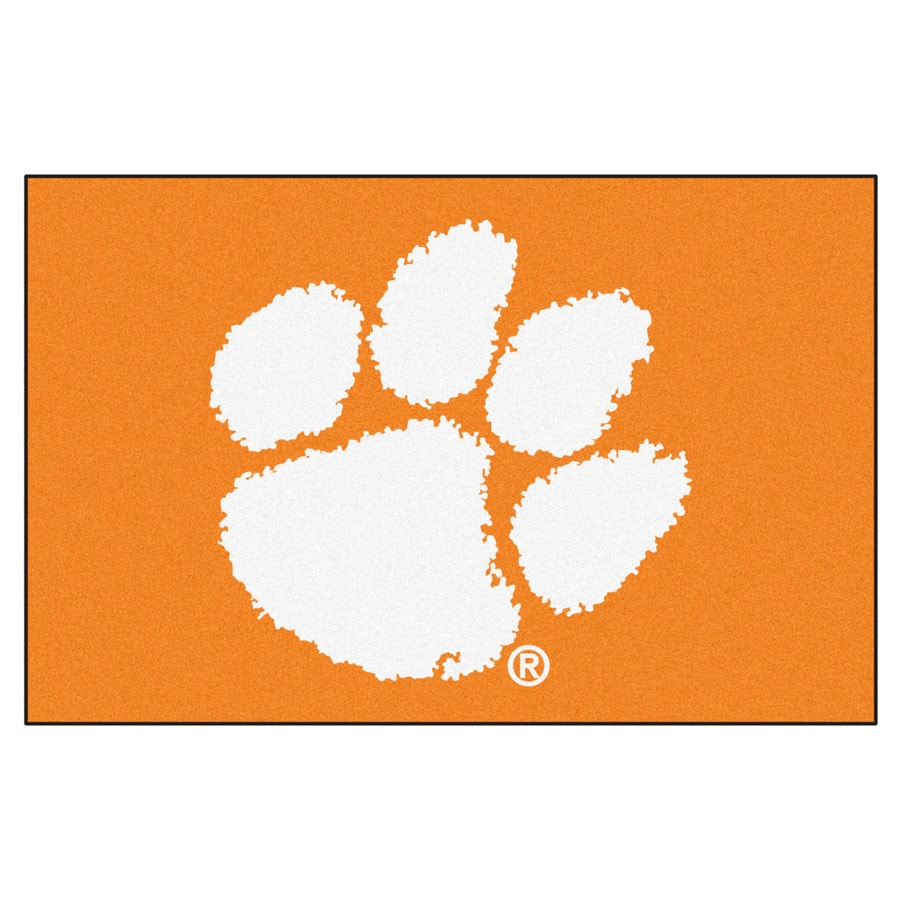 FANMATS Clemson University Multicolor Rectangular Indoor Machine-Made Sports Throw Rug (Common: 1-1/2 x 2-1/2; Actual: 19-ft W x 30-ft L)