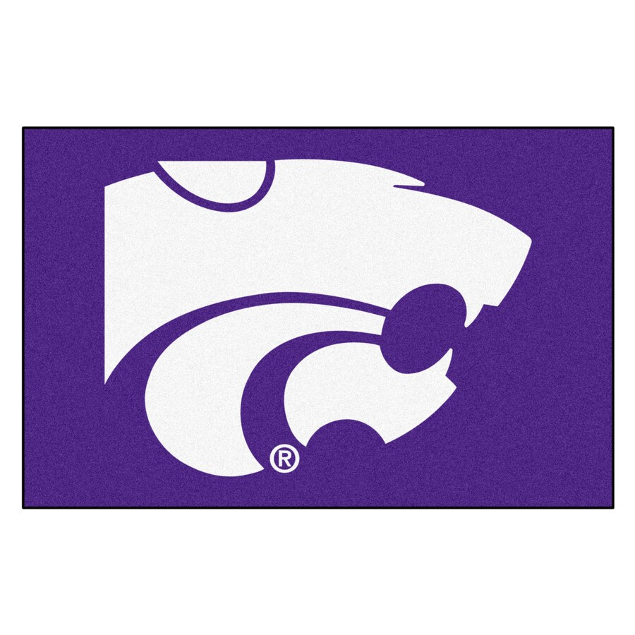 FANMATS Kansas State University Multicolor Rectangular Indoor Machine-Made Sports Throw Rug (Common: 1-1/2 x 2-1/2; Actual: 19-ft W x 30-ft L)