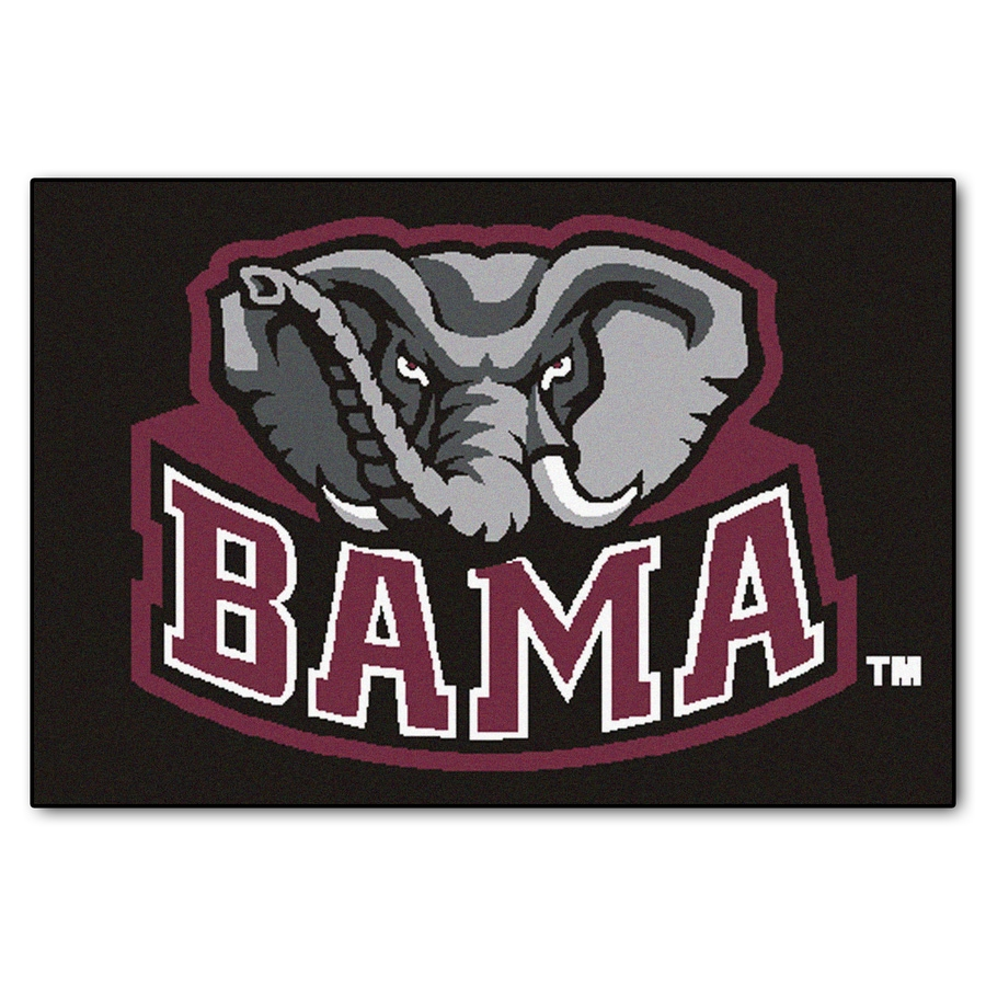 FANMATS University Of Alabama Multicolor Rectangular Indoor Machine-Made Sports Throw Rug (Common: 1-1/2 x 2-1/2; Actual: 19-in W x 30-in L x 0-ft Dia)