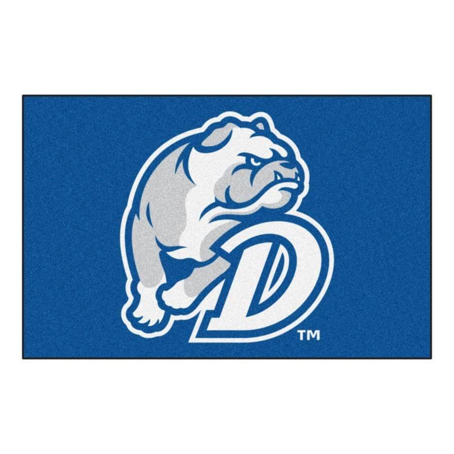 FANMATS Drake University Rectangular Indoor Machine-Made Sports Throw Rug (Common: 1-1/2 x 2-1/2; Actual: 1.583-ft W x 2.5-ft L x dia)