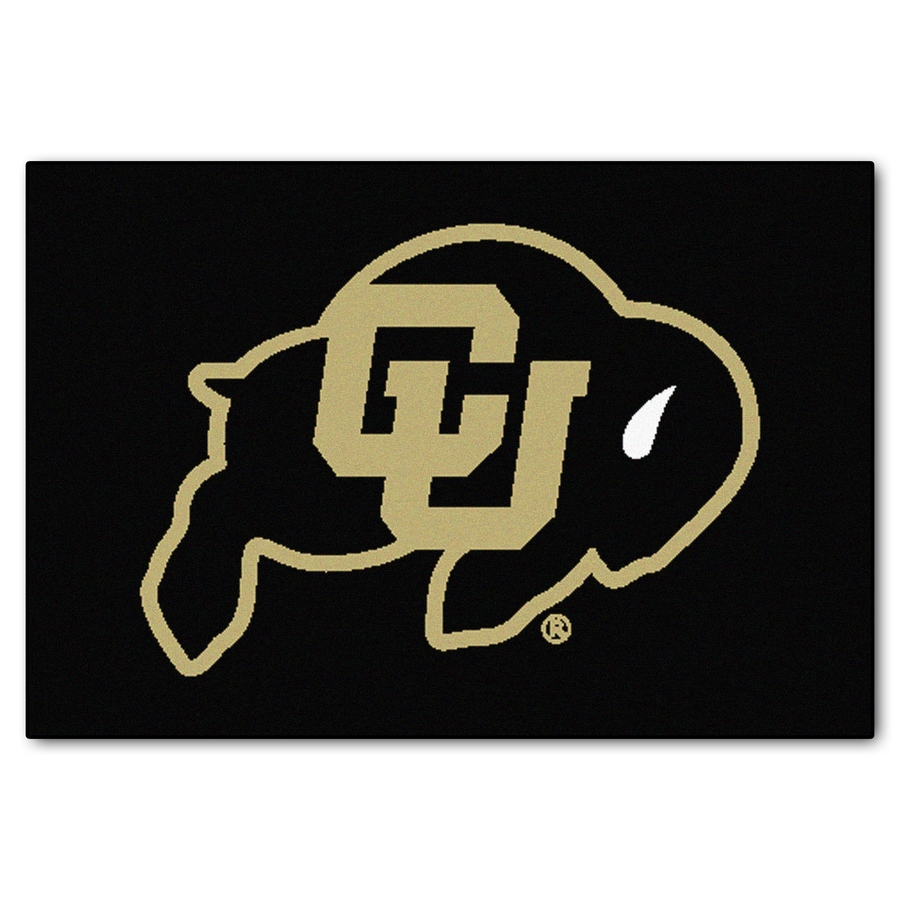FANMATS University Of Colorado Multicolor Rectangular Indoor Machine-Made Sports Throw Rug (Common: 1-1/2 x 2-1/2; Actual: 19-ft W x 30-ft L)