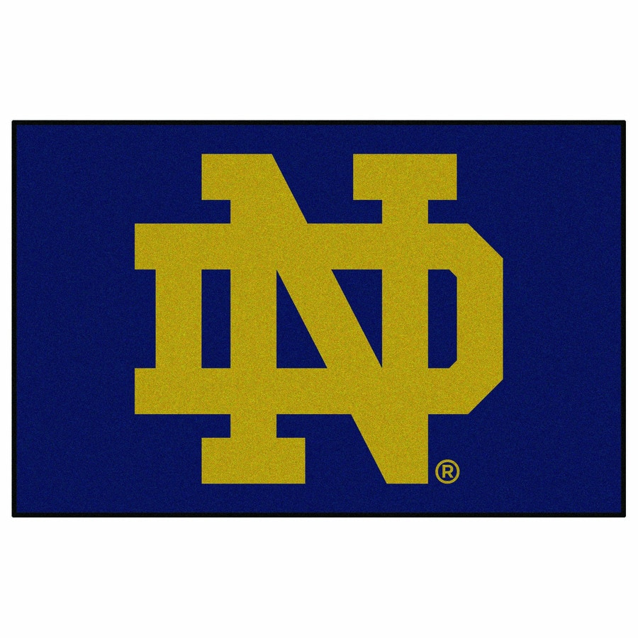 FANMATS Notre Dame Rectangular Indoor Machine-Made Sports Throw Rug (Common: 1-1/2 x 2-1/2; Actual: 1.583-ft W x 2.5-ft L x dia)