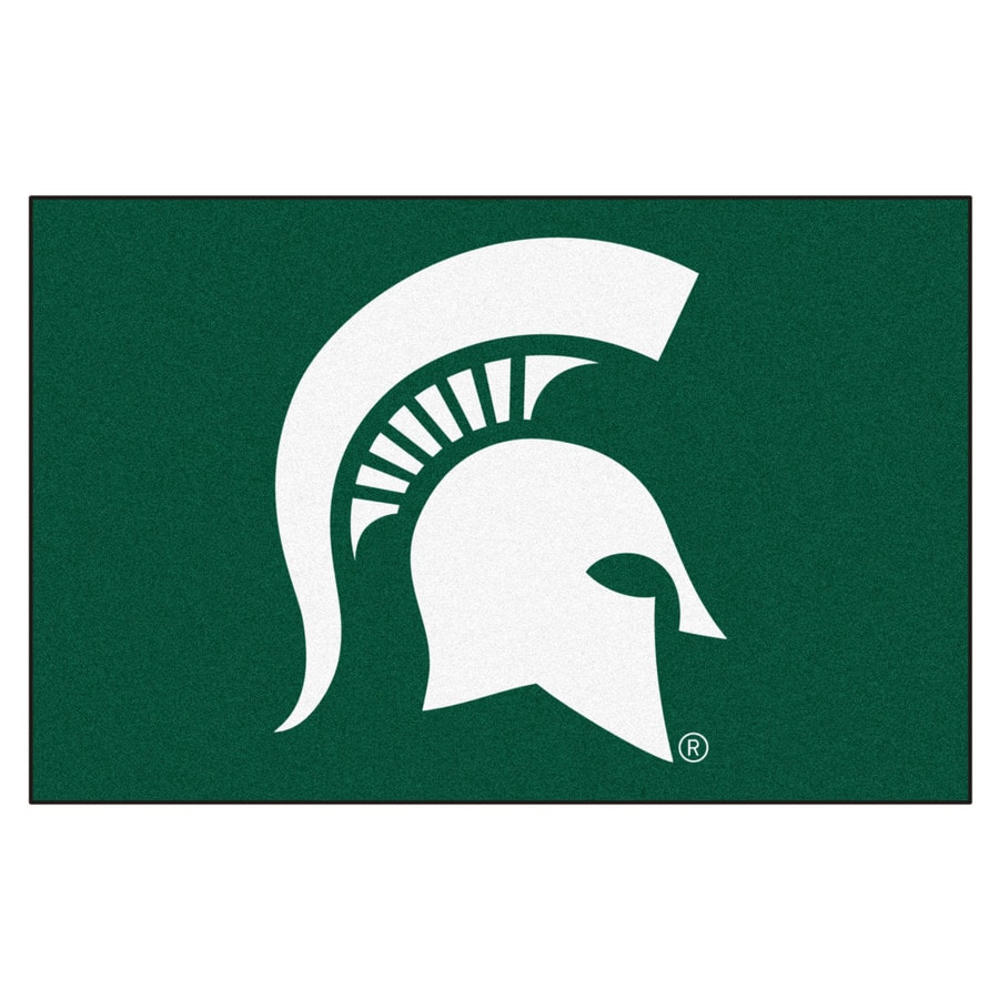 FANMATS Michigan State University Rectangular Indoor Machine-Made Sports Throw Rug (Common: 1-1/2 x 2-1/2; Actual: 1.583-ft W x 2.5-ft L x dia)