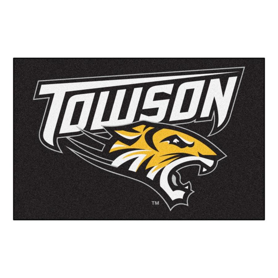 FANMATS Towson University Rectangular Indoor Machine-Made Sports Throw Rug (Common: 1-1/2 x 2-1/2; Actual: 1.583-ft W x 2.5-ft L x dia)