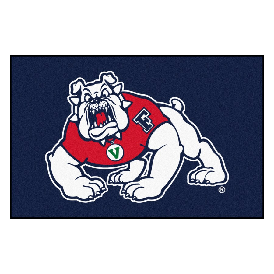 FANMATS Fresno State Multicolor Rectangular Indoor Machine-Made Sports Throw Rug (Common: 1-1/2 x 2-1/2; Actual: 19-ft W x 30-ft L)