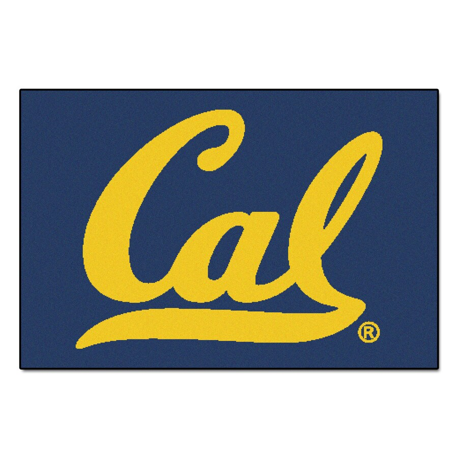 FANMATS University Of California- Berkeley Multicolor Rectangular Indoor Machine-Made Sports Throw Rug (Common: 1-1/2 x 2-1/2; Actual: 19-in W x 30-in L x 0-ft Dia)