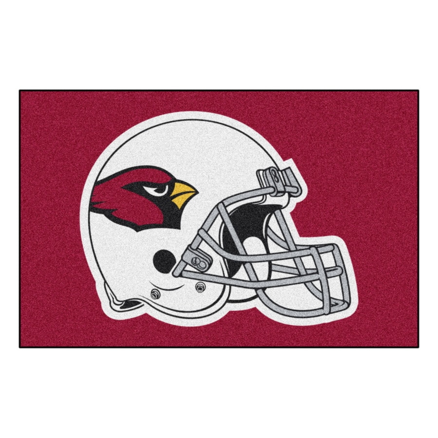 FANMATS Arizona Cardinals Rectangular Indoor Machine-Made Sports Throw Rug (Common: 1-1/2 x 2-1/2; Actual: 1.583-ft W x 2.5-ft L x dia)