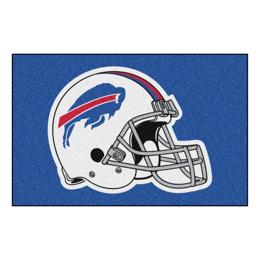 FANMATS Buffalo Bills Rectangular Indoor Machine-Made Sports Throw Rug (Common: 1-1/2 x 2-1/2; Actual: 1.583-ft W x 2.5-ft L x dia)