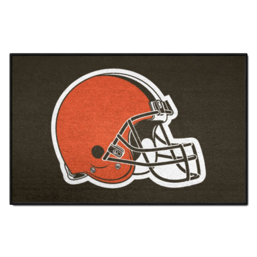 FANMATS NFL- Cleveland Browns Multicolor Rectangular Indoor Machine-Made Sports Throw Rug (Common: 1-1/2 x 2-1/2; Actual: 19-ft W x 30-ft L)