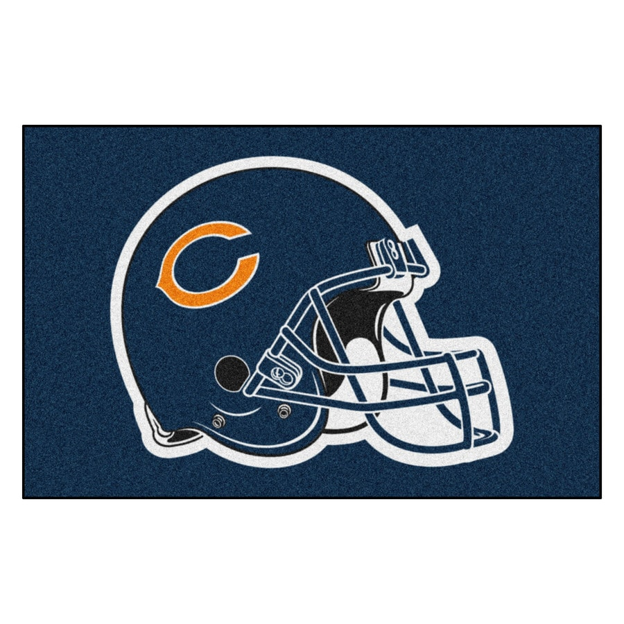 FANMATS Chicago Bears Rectangular Indoor Machine-Made Sports Throw Rug (Common: 1-1/2 x 2-1/2; Actual: 1.583-ft W x 2.5-ft L x dia)