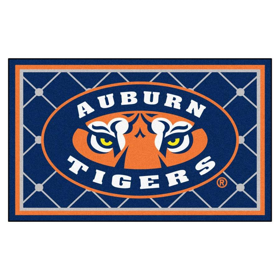 FANMATS Auburn University Navy Rectangular Indoor Tufted Sports Area Rug (Common: 4 x 6; Actual: 4-ft W x 6-ft L)
