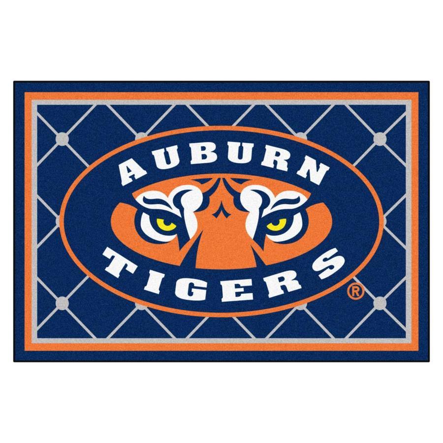 FANMATS Auburn University Navy Rectangular Indoor Tufted Sports Area Rug (Common: 5 x 8; Actual: 60-in W x 96-in L x 0-ft Dia)
