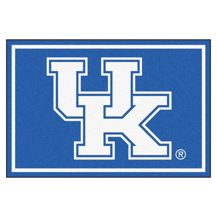 FANMATS University Of Kentucky Blue Rectangular Indoor Tufted Sports Area Rug (Common: 5 x 8; Actual: 5-ft W x 8-ft L)