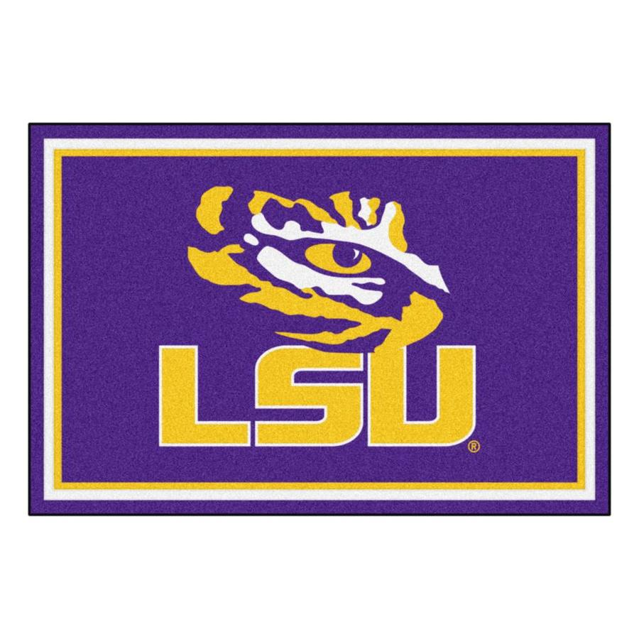 FANMATS Louisiana State University Purple Rectangular Indoor Tufted Sports Area Rug (Common: 5 x 8; Actual: 5-ft W x 8-ft L)