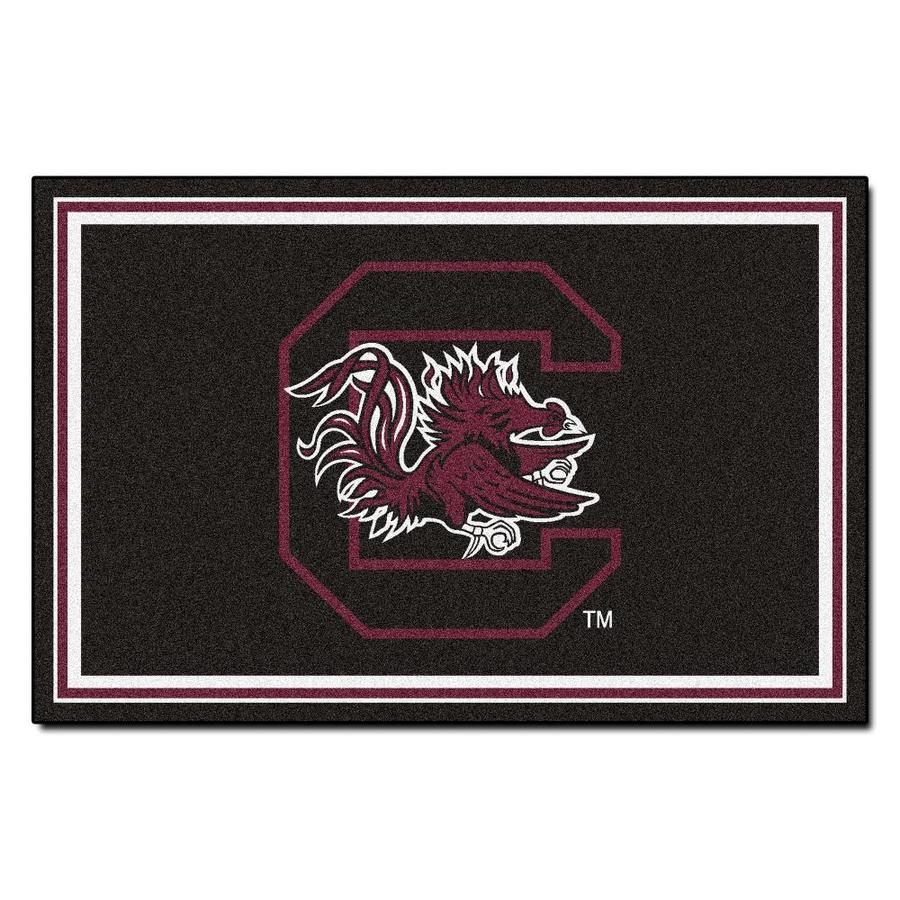 FANMATS University Of South Carolina Black Rectangular Indoor Tufted Sports Area Rug (Common: 5 x 8; Actual: 5-ft W x 8-ft L)