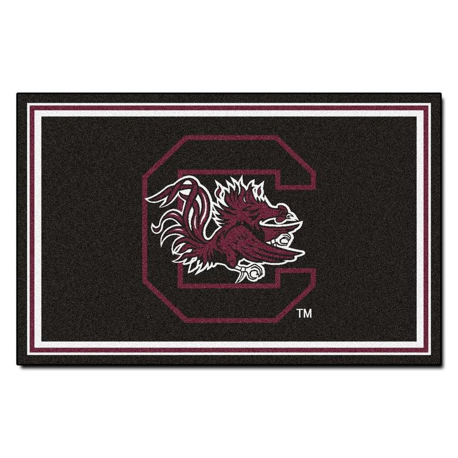 FANMATS University Of South Carolina Black Rectangular Indoor Tufted Sports Area Rug (Common: 4 x 6; Actual: 48-in W x 72-in L x 0-ft Dia)