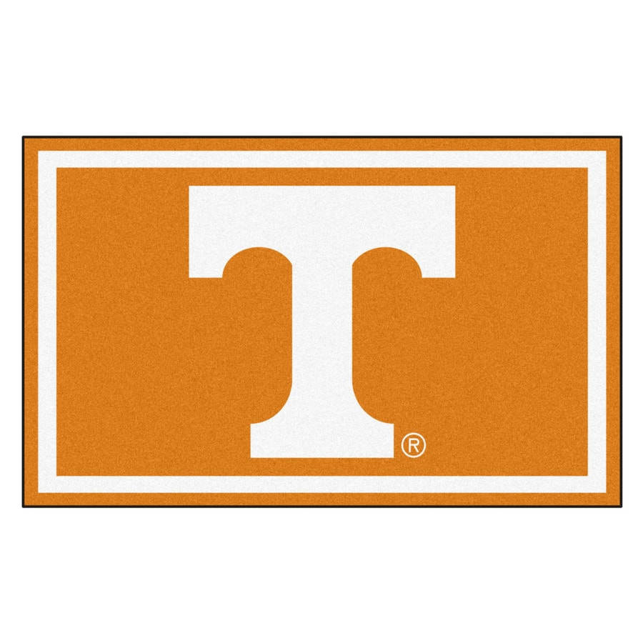 FANMATS University of Tennessee Team Color Rectangular Indoor Machine-made Sports Area Rug (Common: 4 X 6; Actual: 6-ft W x 4-ft L)