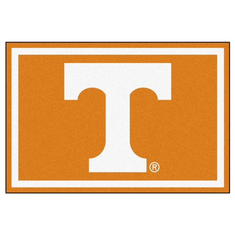 FANMATS University Of Tennessee Orange Rectangular Indoor Tufted Sports Area Rug (Common: 5 x 8; Actual: 60-in W x 96-in L x 0-ft Dia)