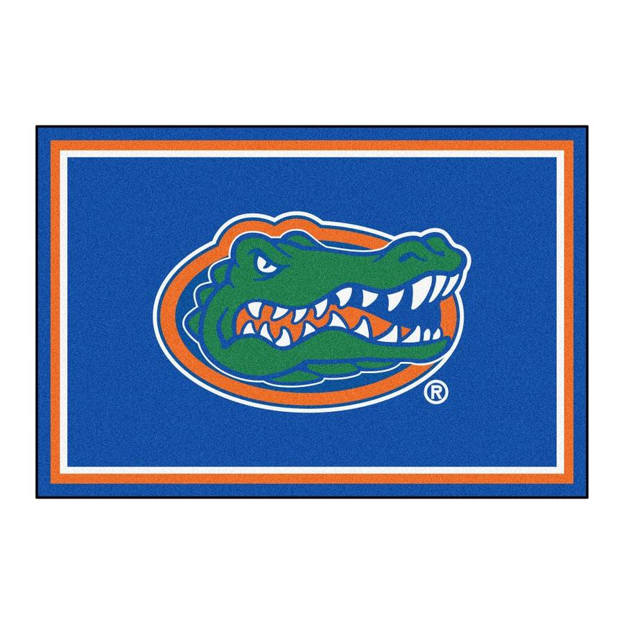 FANMATS University Of Florida Blue Rectangular Indoor Tufted Sports Area Rug (Common: 5 x 8; Actual: 60-in W x 96-in L x 0-ft Dia)