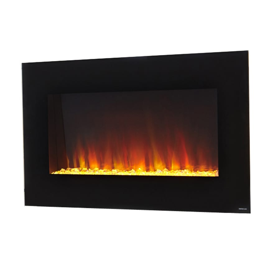 shop style selections 35 5 in w 4 800 btu black metal wall mount