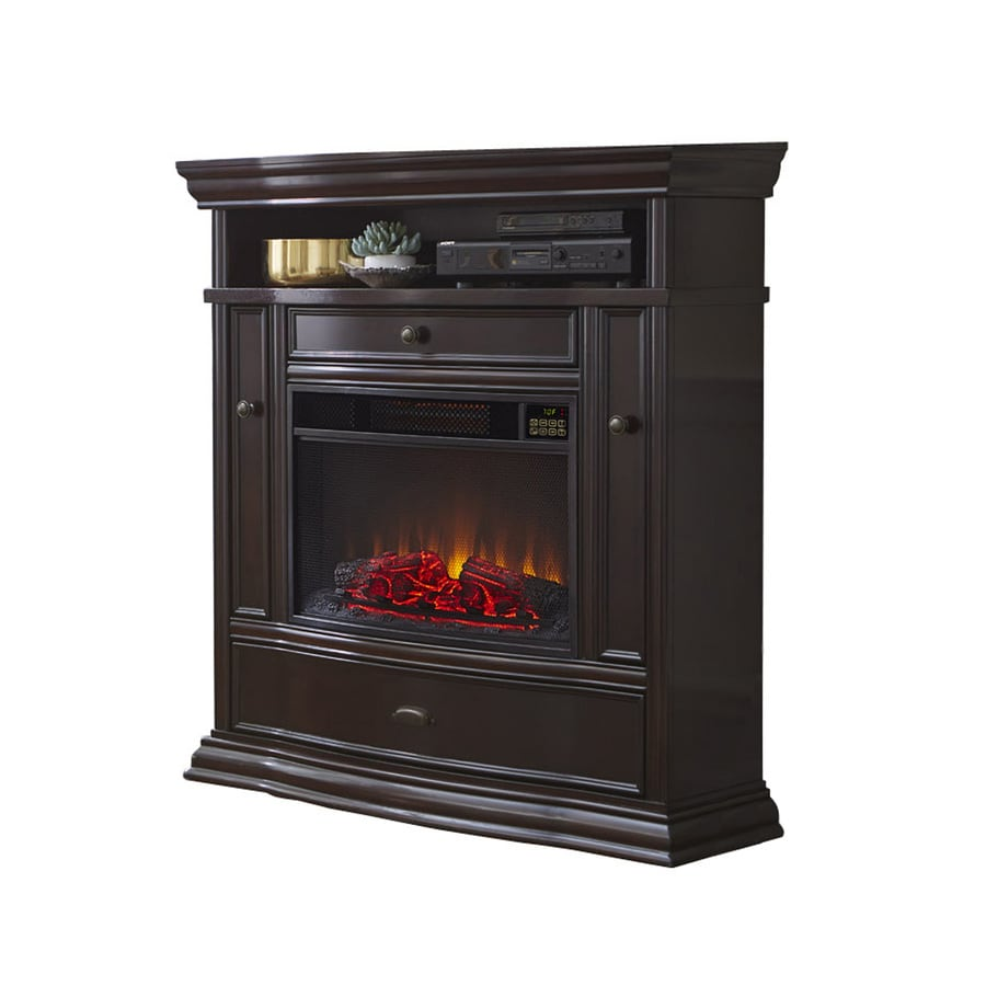 000-BTU Espresso Wood Infrared Quartz Electric Fireplace with Thermostat and Remote Control at Lowes.com
