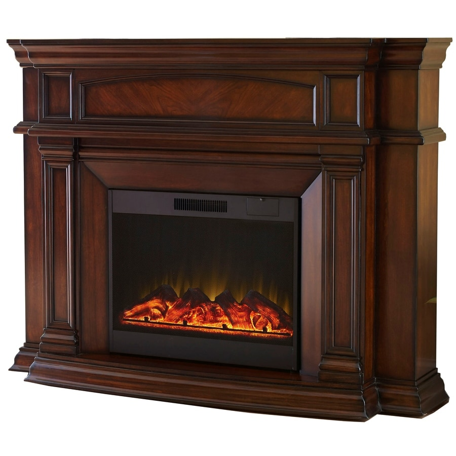 800-BTU Mink Wood Wall-Mount Electric Fireplace with Remote Control at Lowes.com