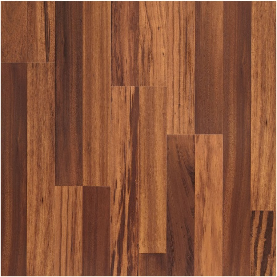 allen + roth Laminate 8.07-in W x 3.97-ft L Natural Tigerwood Wood Plank Laminate Flooring