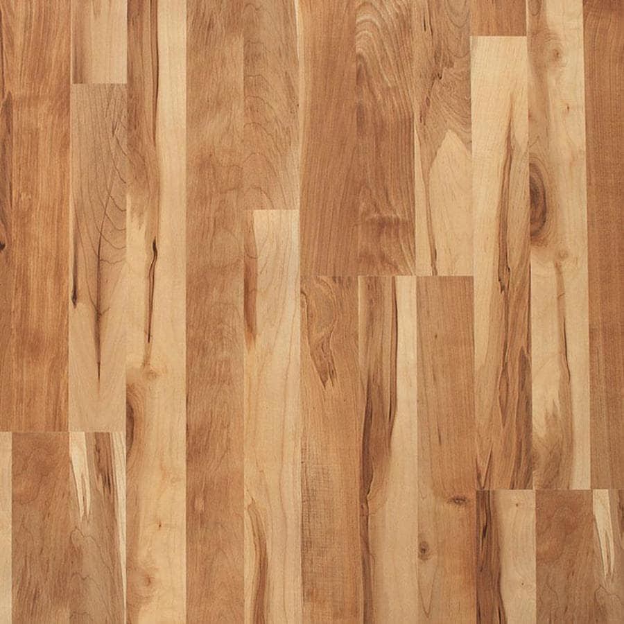 shop style selections w x l natural maple smooth wood plank laminate flooring at. Black Bedroom Furniture Sets. Home Design Ideas