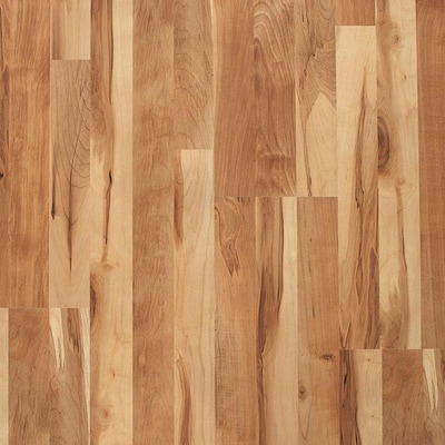 Natural Maple 8 07 In W X 3 97 Ft L Smooth Wood Plank Laminate Flooring