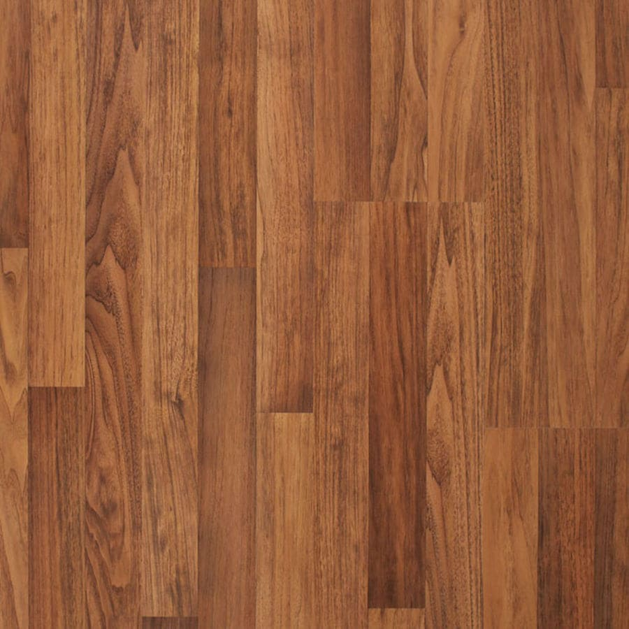 allen + roth 7.96-in W x 3.97-ft L Toasted Butternut Embossed Wood Plank Laminate Flooring