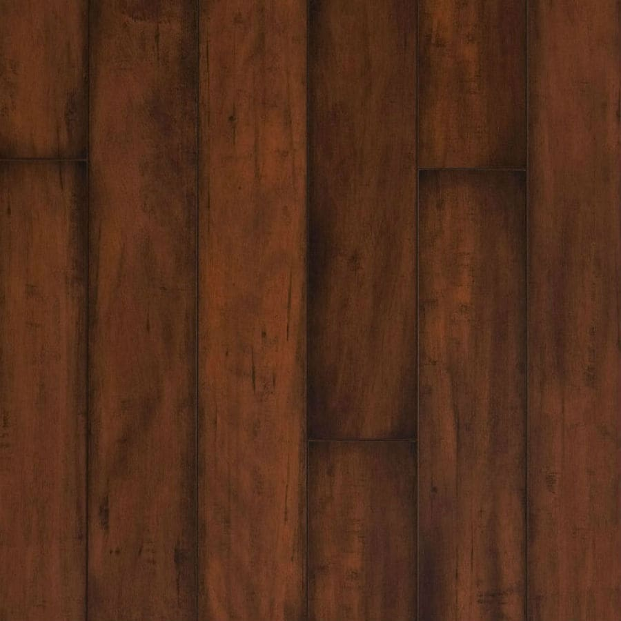 Shop allen roth w x l burnished cafe for Maple laminate flooring