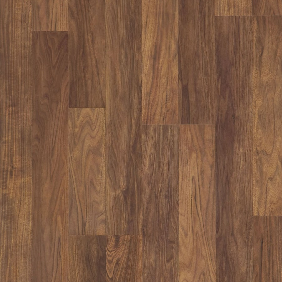 Natural Walnut 8.05,in W x 3.97,ft L Smooth Wood Plank Laminate Flooring