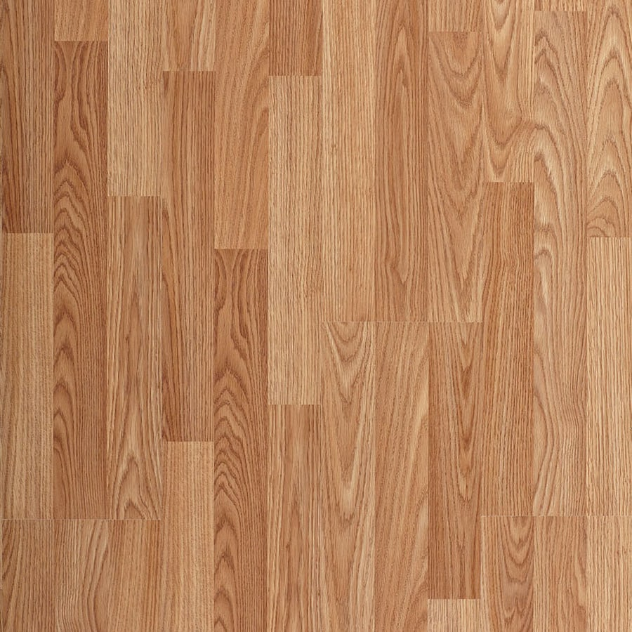 Shop project source natural oak wood planks laminate for Natural oak wood flooring